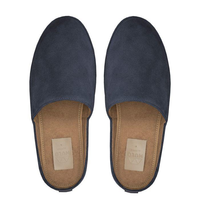 Suede Slate Mens Slippers