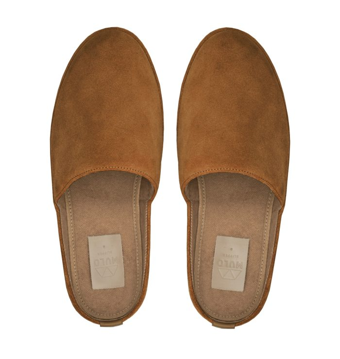 Suede Tobacco Mens Slippers