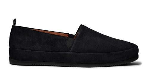 Black Loafers for Men in Suede | MULO shoes