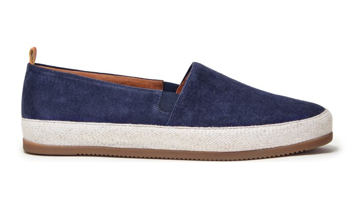 Mens Espadrilles in Navy Suede