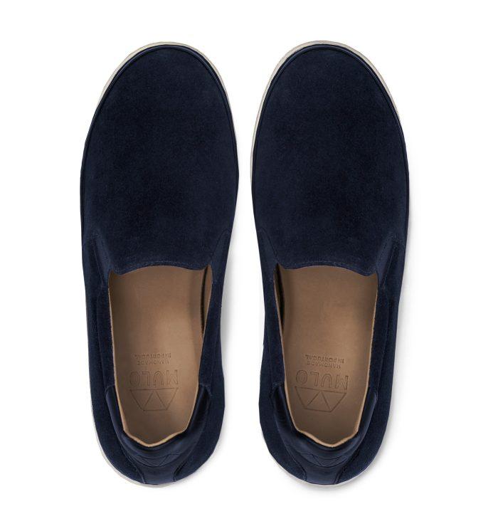 Mens Blue Slip-On Sneakers