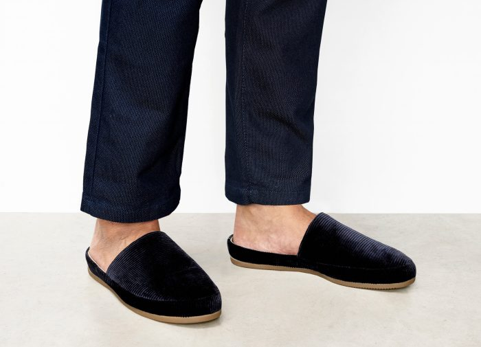 Mens Blue Slippers
