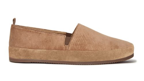 Corduroy Slippers for Men in Camel
