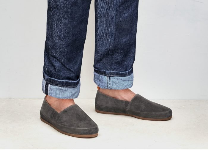 Brown Suede Mens Loafers