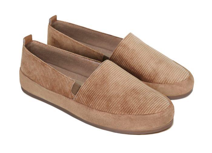 Camel Slippers for Men in British Corduroy