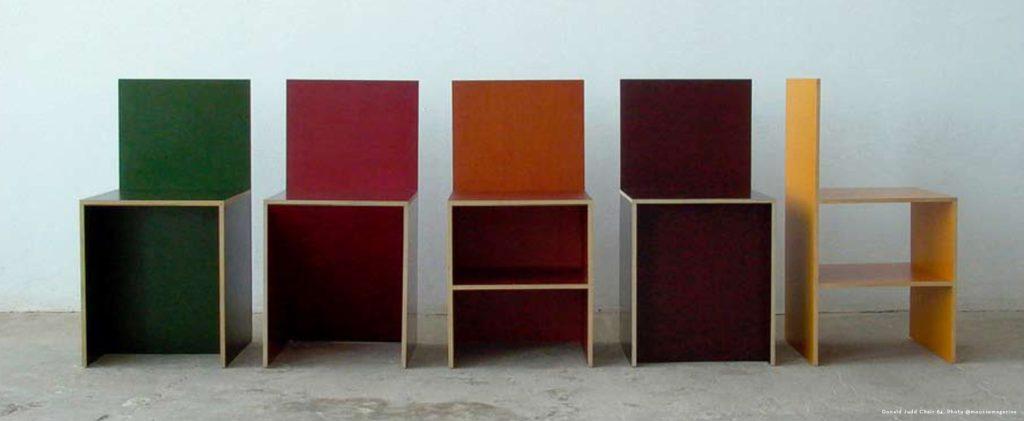 New Season Colour Inspiration - Donald Judd Chair 84 Design