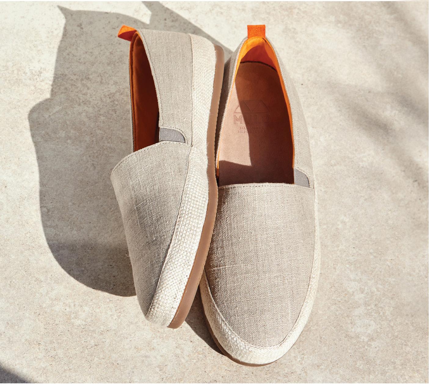 Cream Espadrilles - Mens shoes for beach