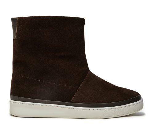 Dark Brown Waxed Suede Winter Boots for Men
