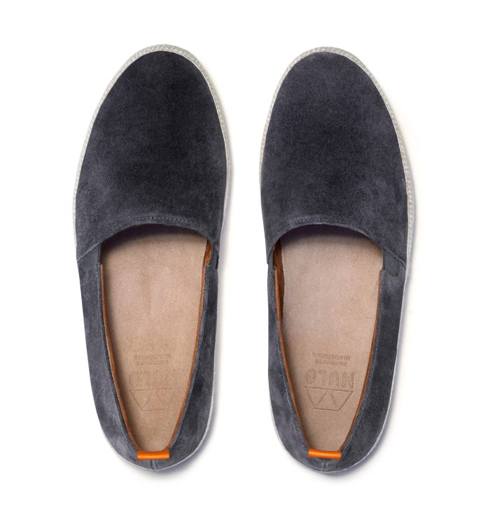 Charcoal Grey Mens Espadrilles in Suede