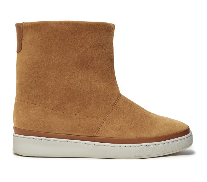 Dark Tan Waxed Suede Winter Boots for Men