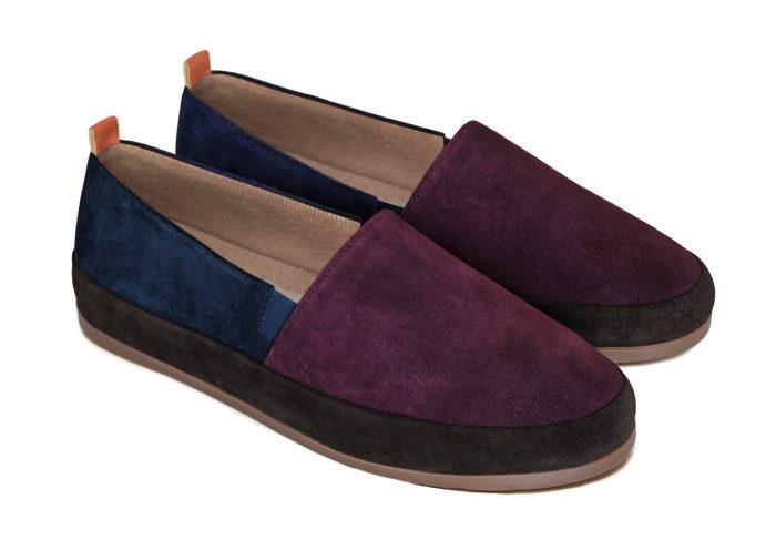 Designer Slippers for Men in Colour-blocked Suede