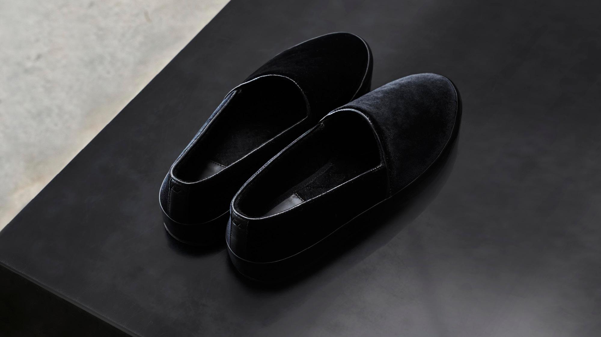 Mens Formal Slippers - Black Slippers