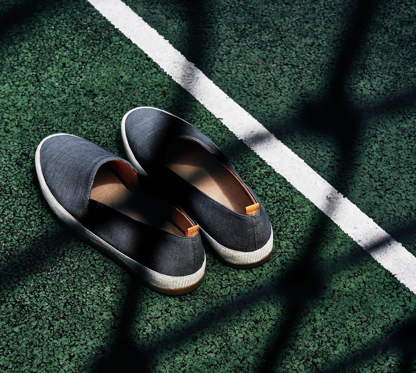 Summer Sport Style - Navy Linen Mens Espadrilles