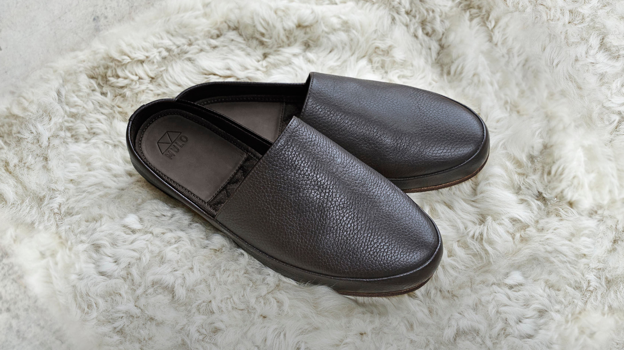 Gifts for Him - Leather Mens Slippers
