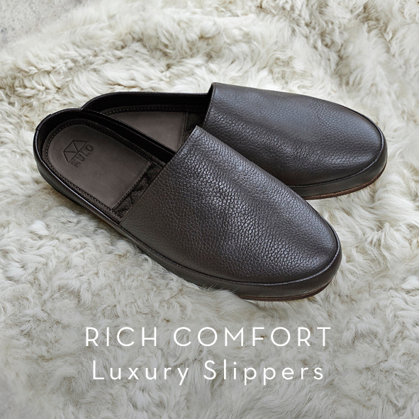 Leather Mens Slippers - Luxury Gifts for Him
