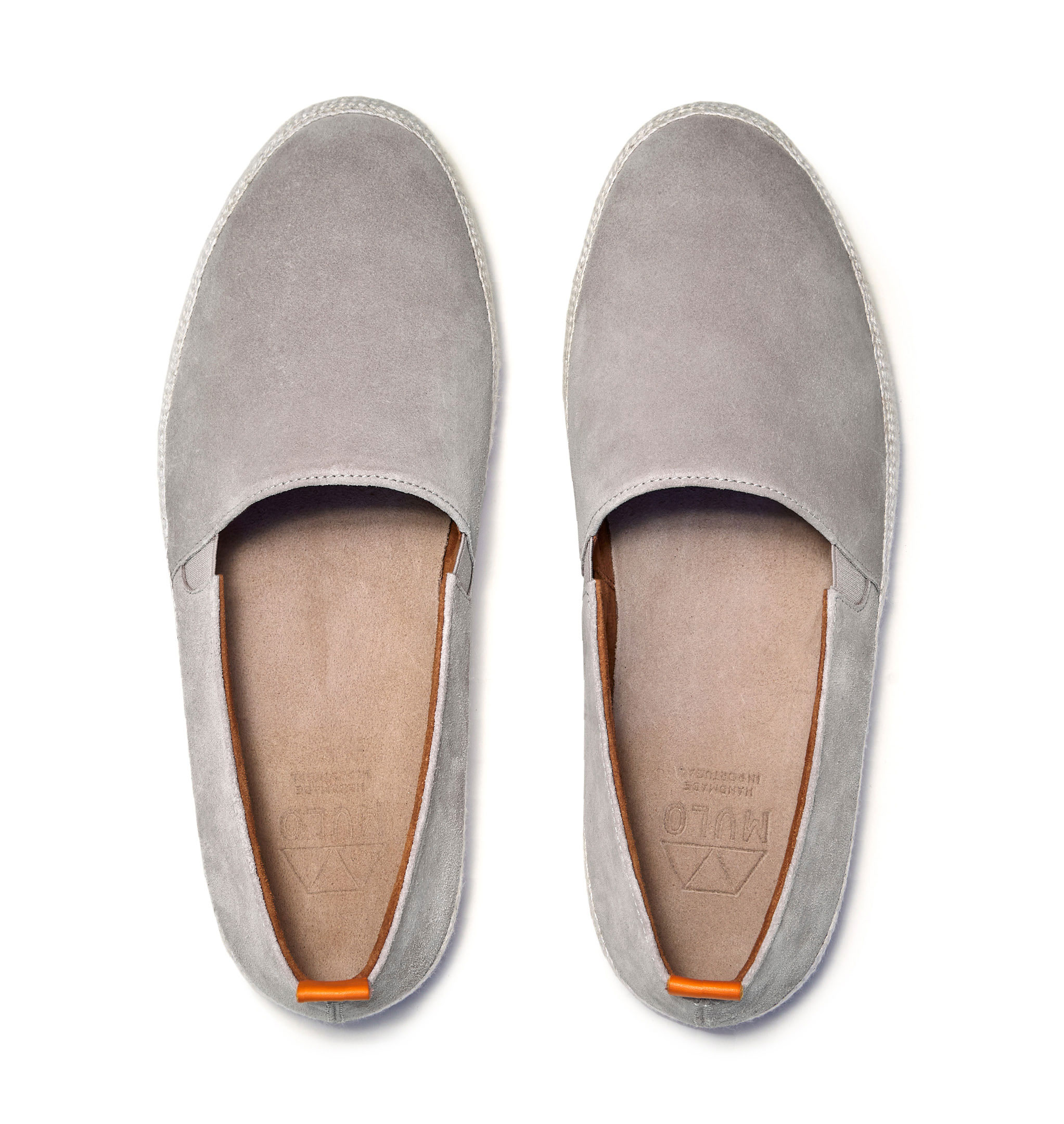 Mens Espadrilles in Grey Suede
