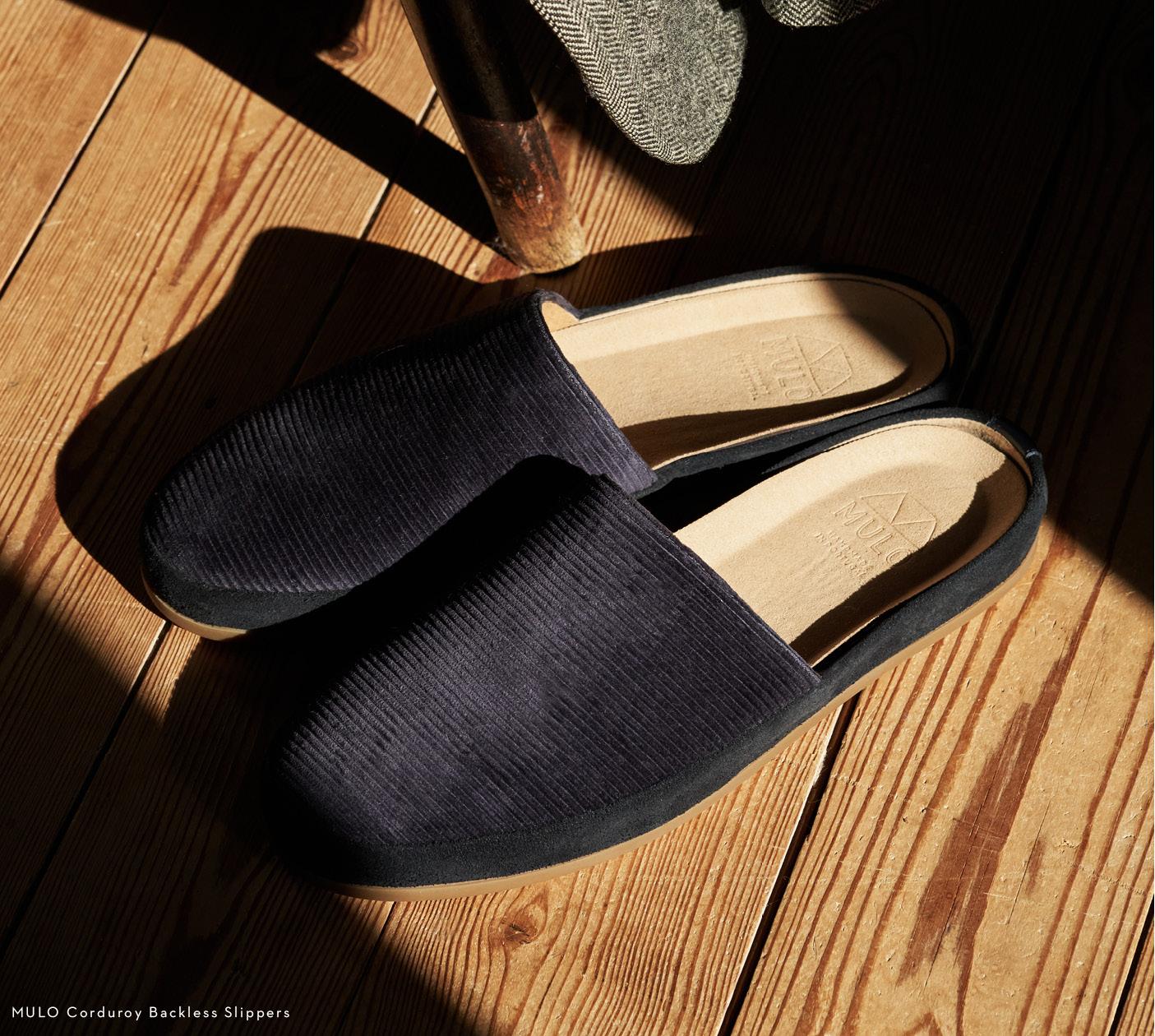 Heritage Fabrics - Corduroy Slippers for Men