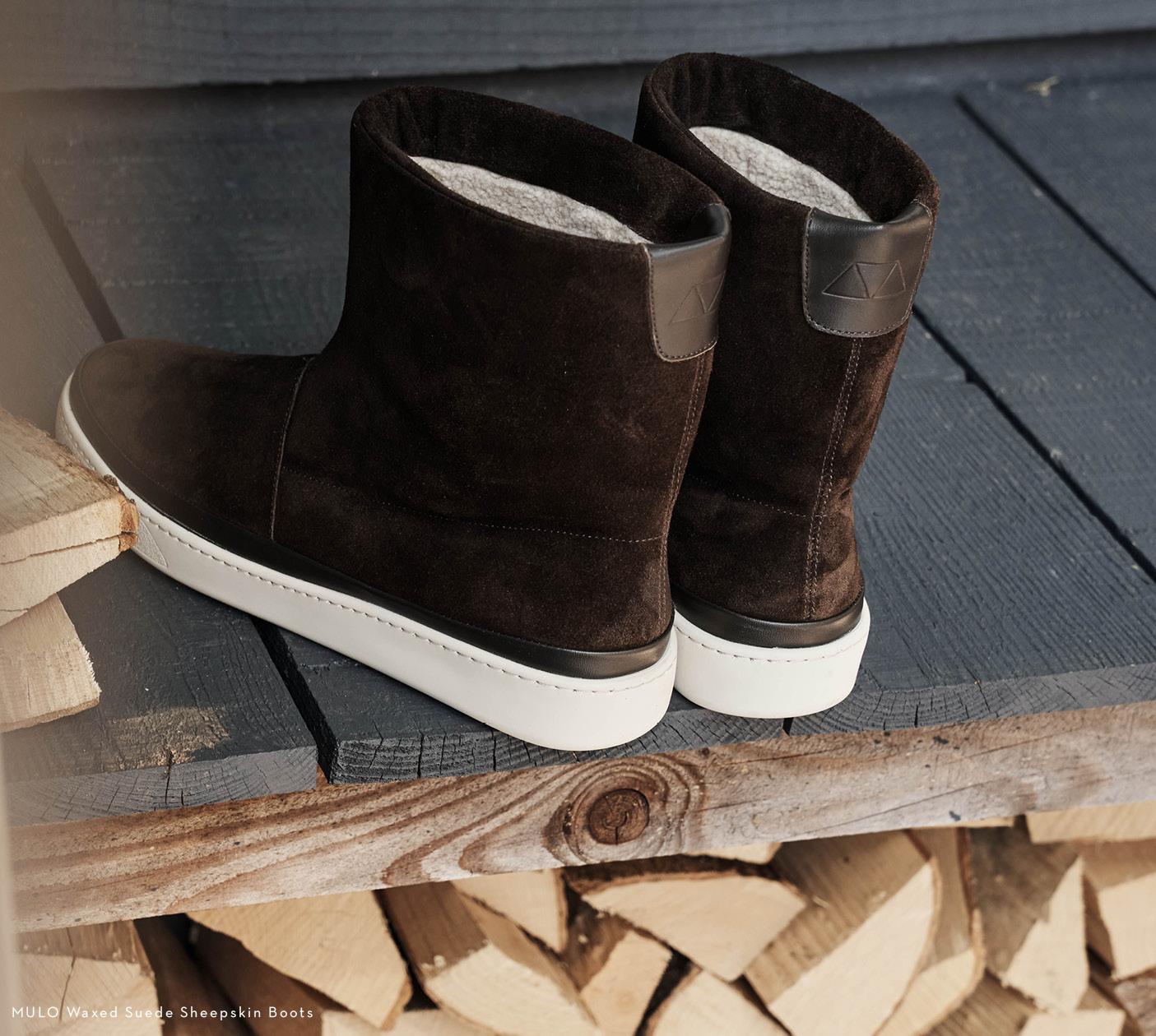 Heritage Fabrics - Sheepskin Slippers for Men