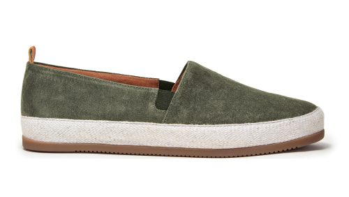 Suede Espadrilles for Men in Khaki Green | MULO shoes