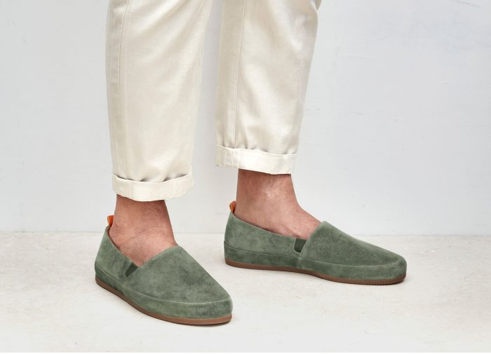 Mens Khaki Suede Loafers | MULO shoes
