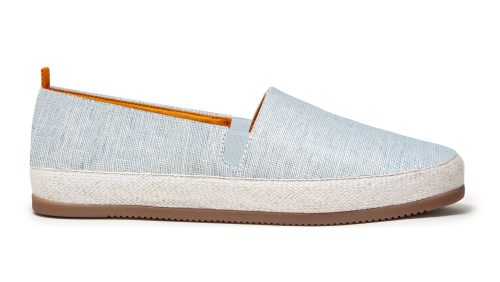 Mens Espadrilles in Light Blue Linen