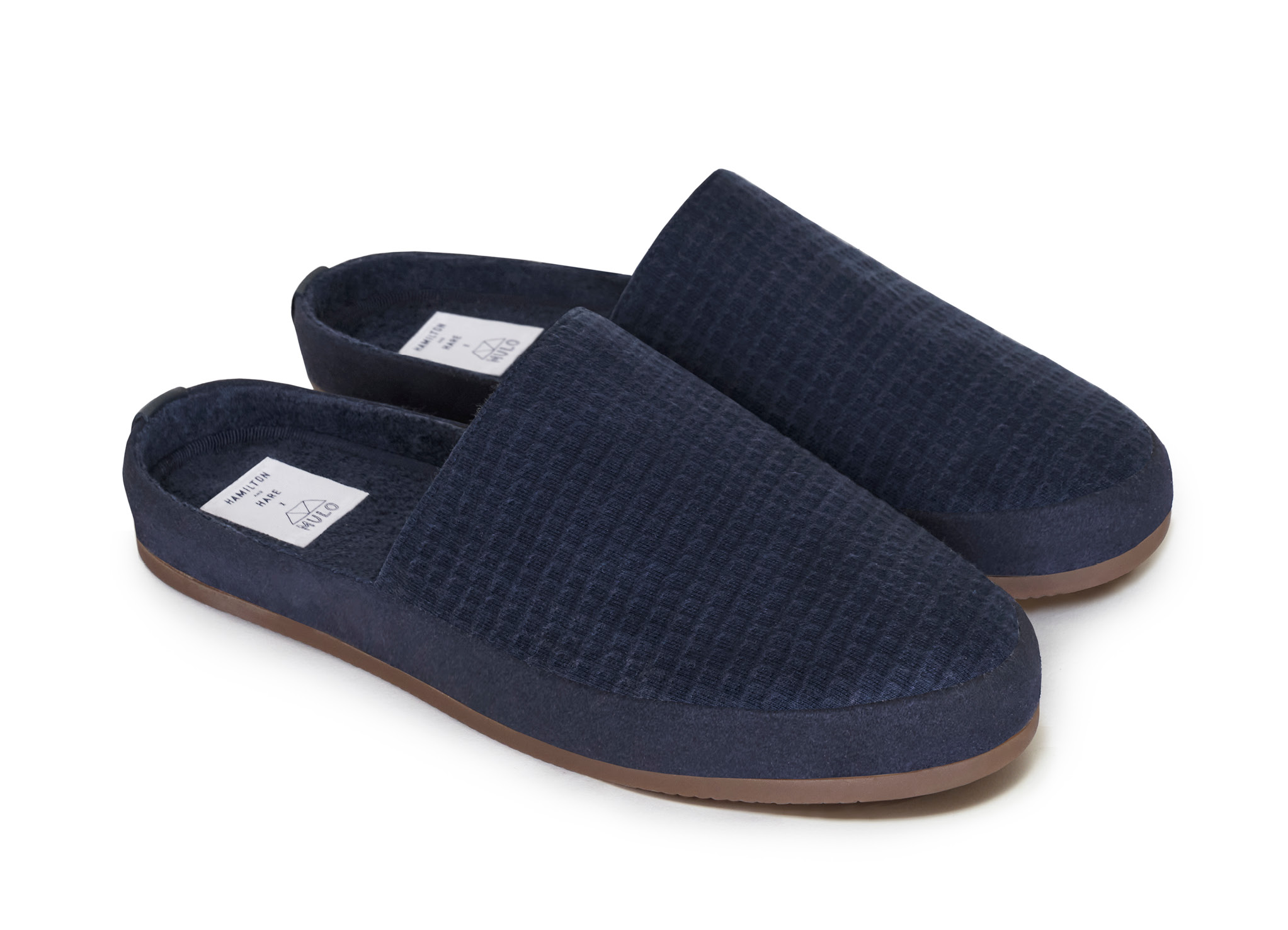 Mens Limited Edition Blue Slip On Slippers