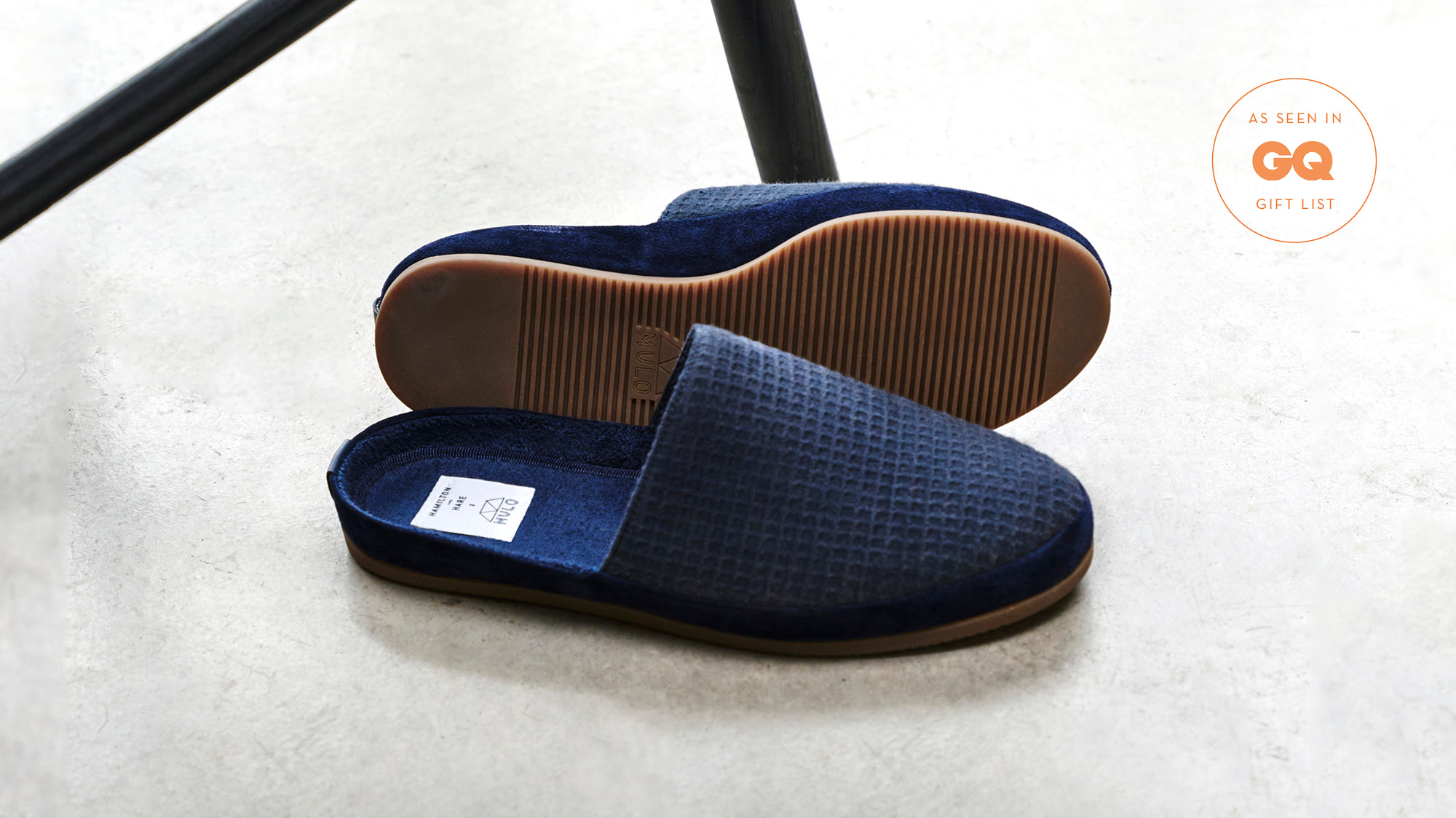 Limited Edition Mens Slippers - Backless Blue Slippers - GQ gift list