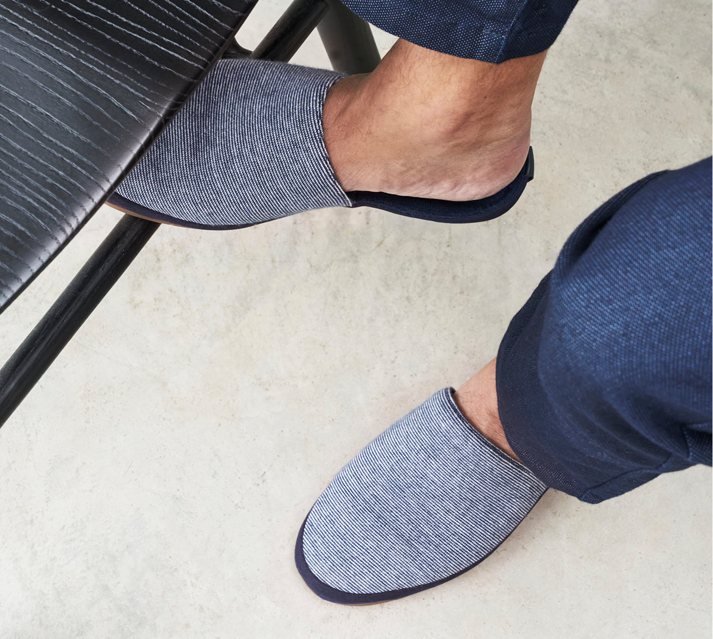 Blue Striped Slippers - Limited Edition Mens Slippers