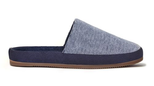Limited Edition Mens Slippers - Blue Striped Slippers - MULO x Hamilton and Hare
