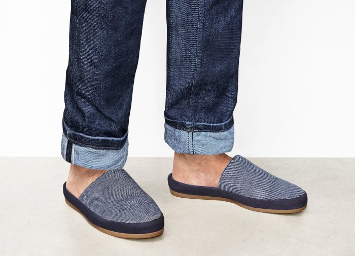 Limited Edition Striped Blue Mens Slippers