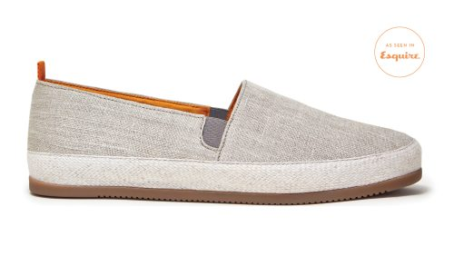 Linen Beige Espadrilles for Men