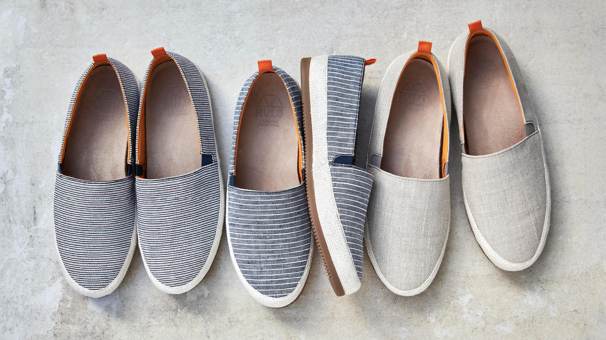 Mens Espadrilles - Lightweight Linen Mens Shoes for Summer