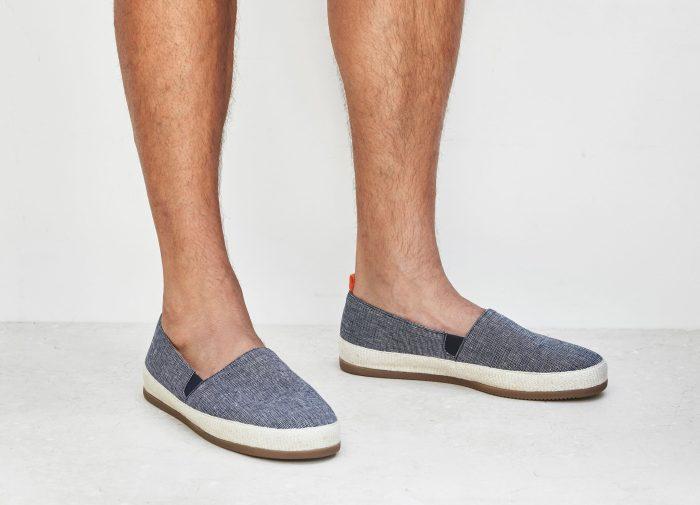 Mens Linen Navy Espadrilles | MULO shoes