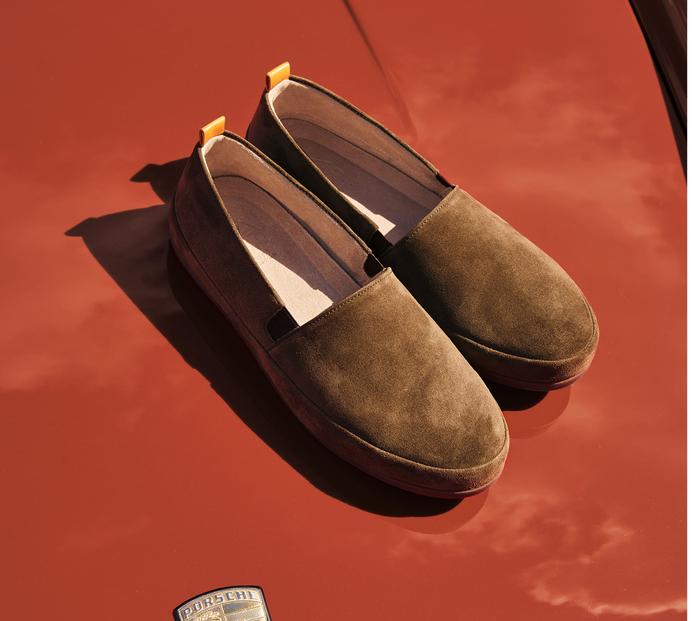 Suede Brown Loafers for Men