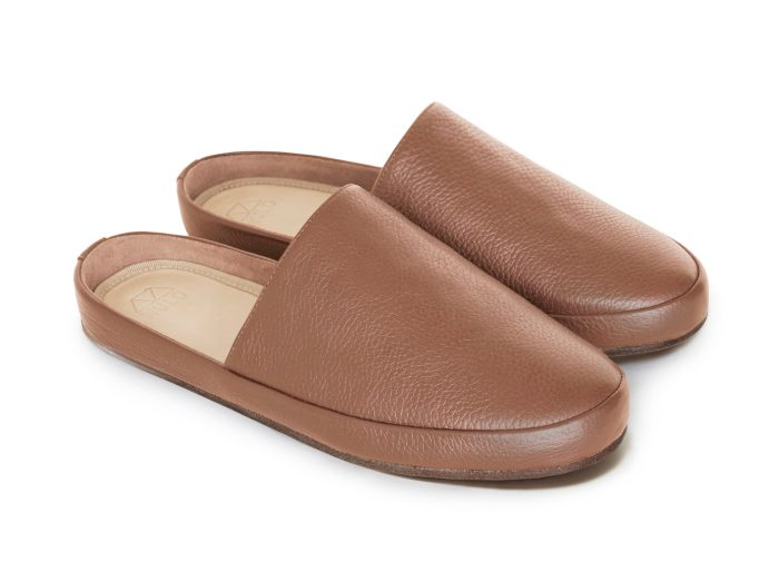 Brown Slippers for Men in Tobacco Leather | MULO shoes