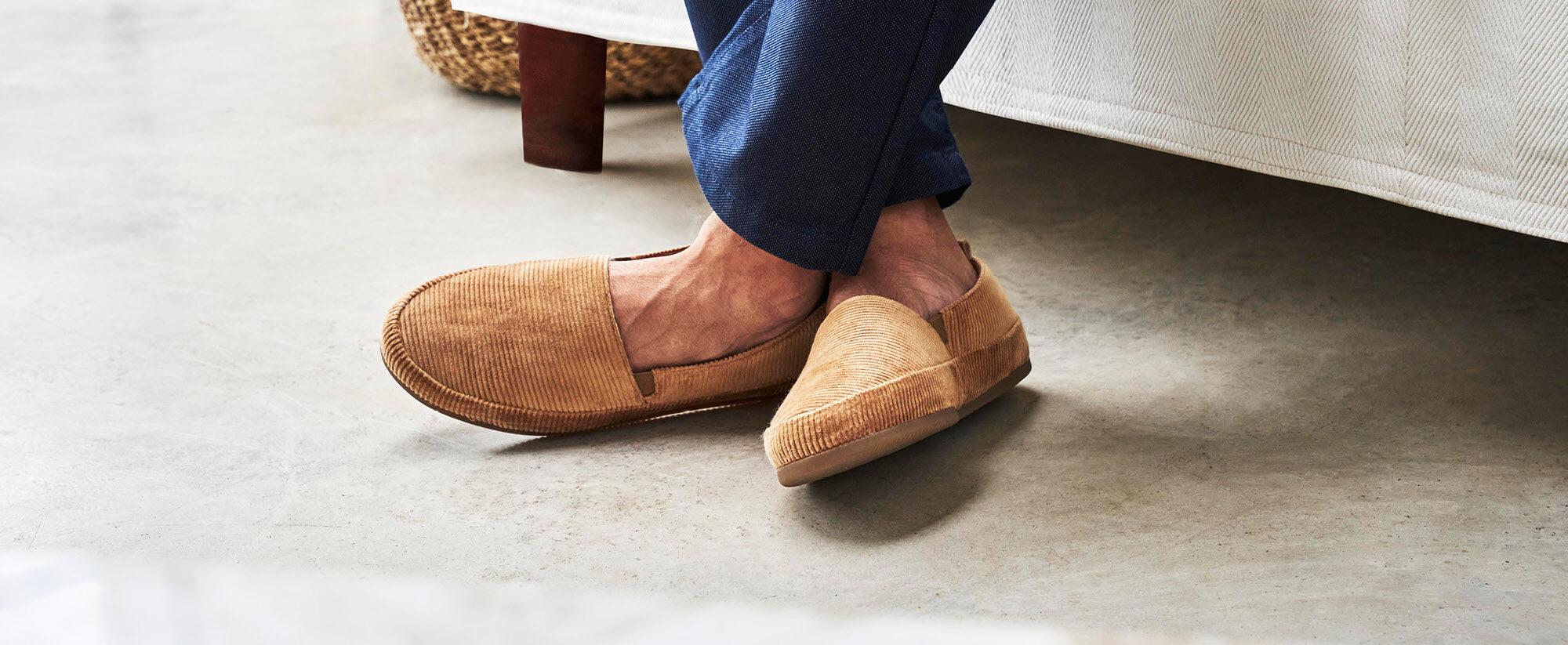 Camel Corduroy Slippers