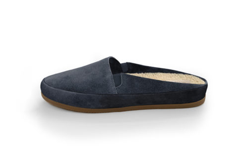 MULO shoes | Suede Slate Backless Slippers