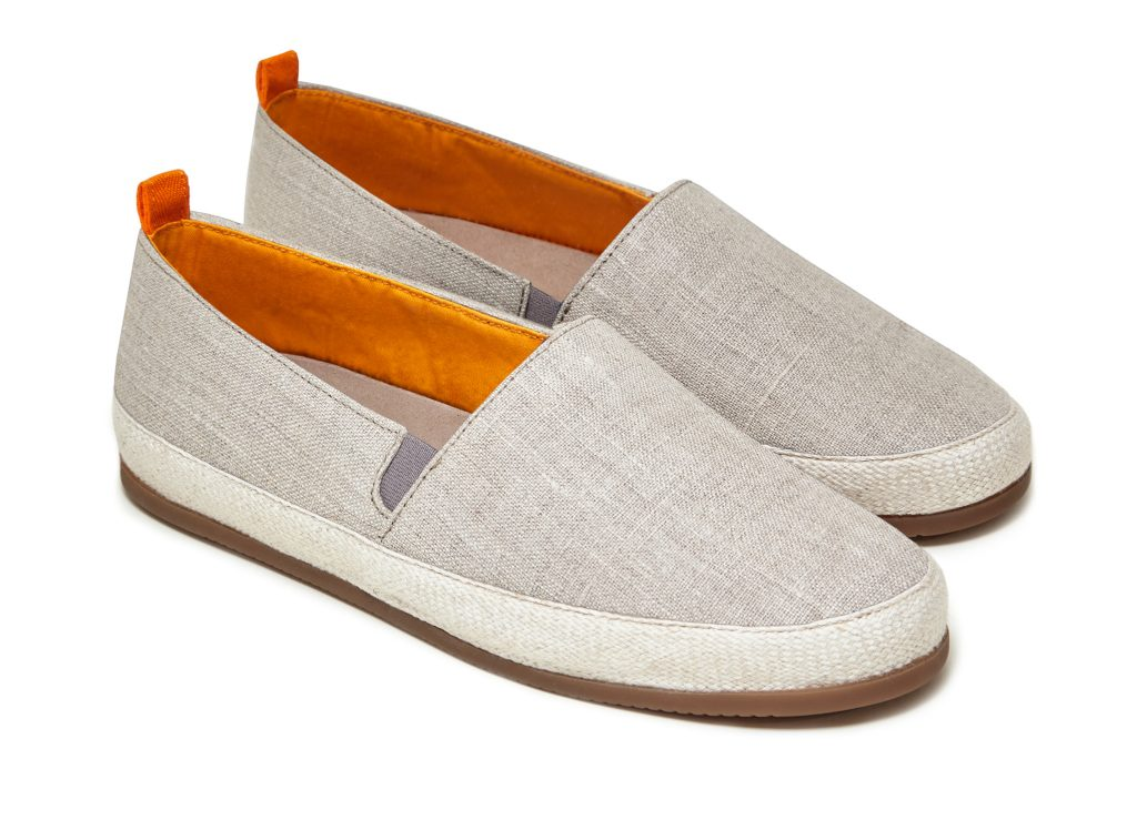 Mens Espadrilles in Beige Linen | MULO shoes