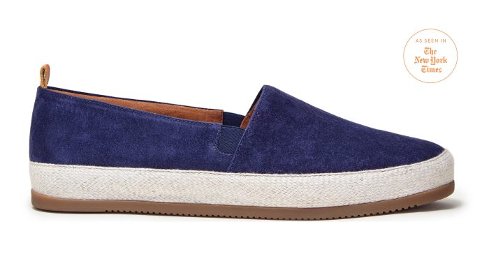 MULO shoes - Blue Espadrilles for Men in Navy Suede