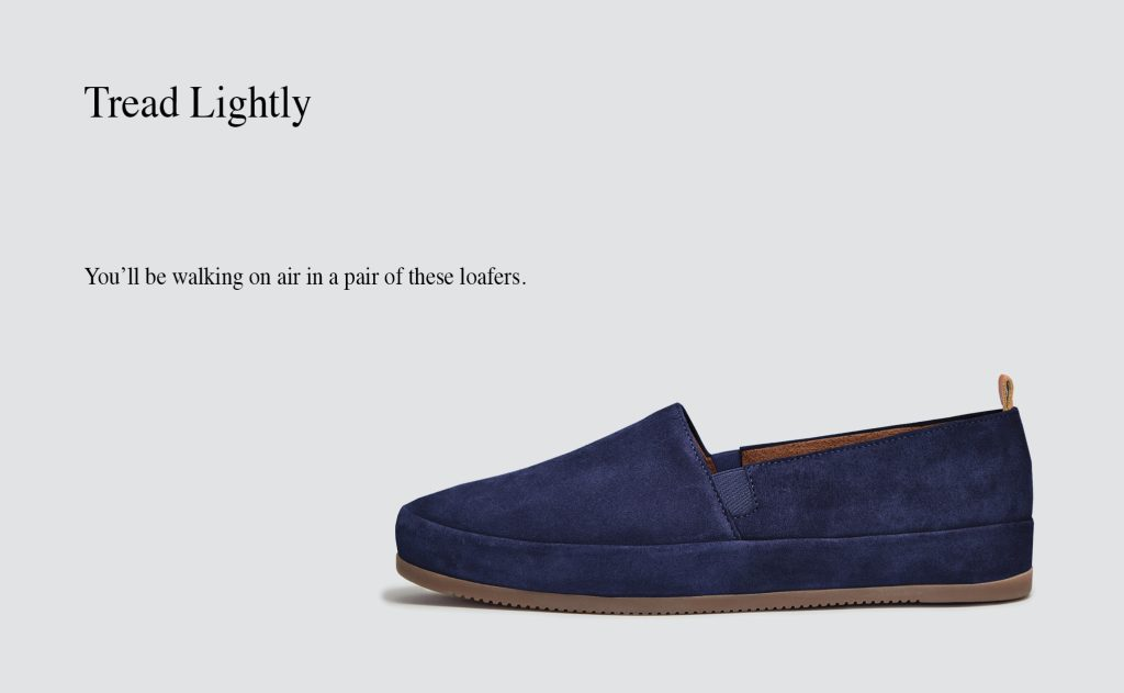 Mens Loafers - Blue Suede