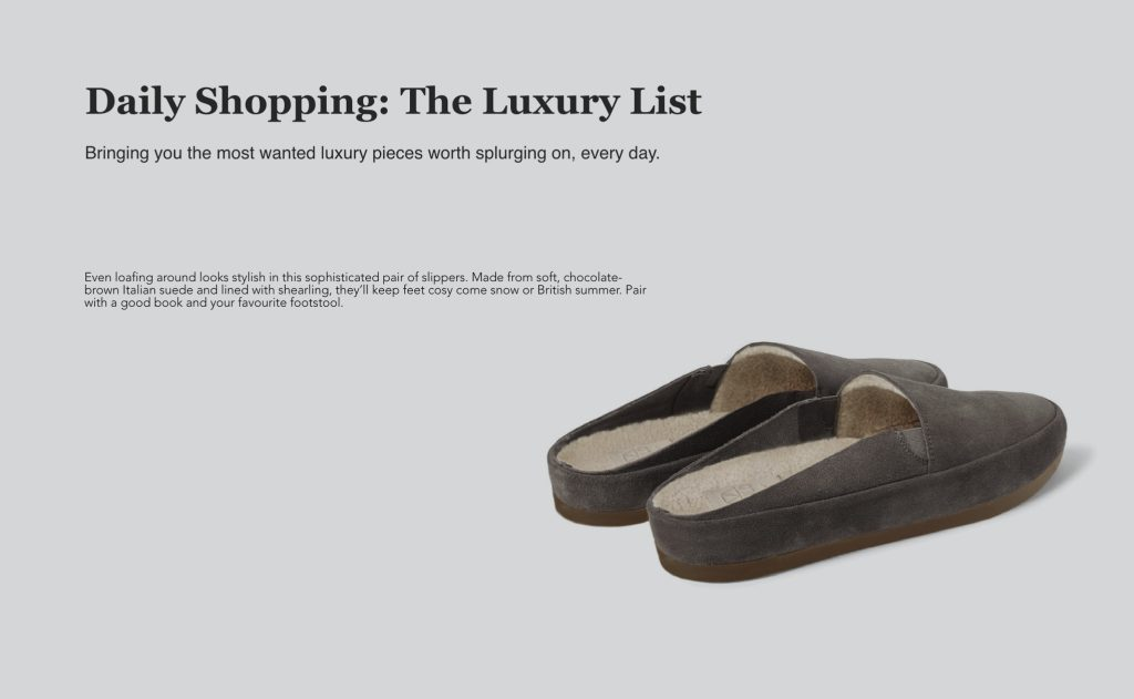 Mens Slippers featured in Country & Town House