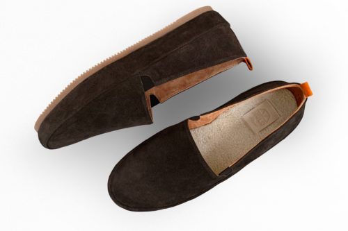 MULO shoes | Dark Brown Suede Slipper Shearling Lined House Shoe