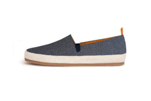MULO shoes | Japanese Print Navy Espadrille