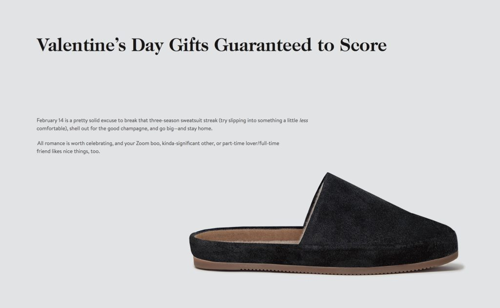 Mens Slippers - Goop - Valentines Day Gifts Guide