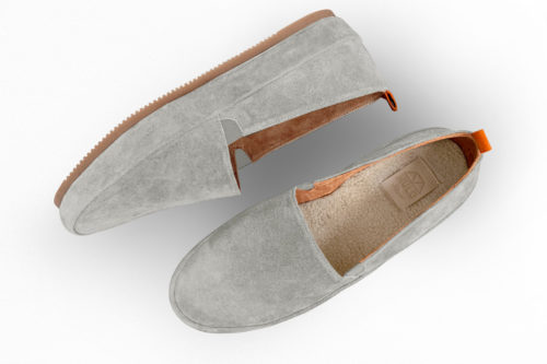 MULO shoes | Light Grey Suede Slipper Shearling Lined House Shoe