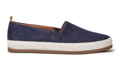 Mens Blue Espadrilles in Slate Suede