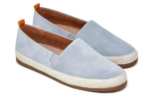 Mens Designer Espadrilles in Light Blue Suede | MULO shoes