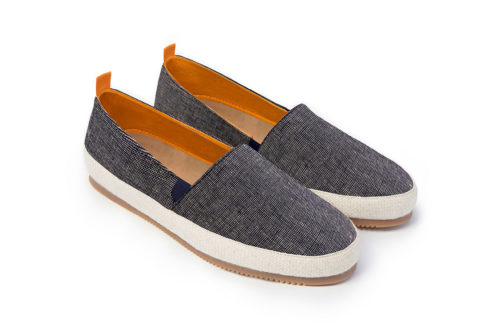 Mens Espadrilles in Navy Weave Linen | MULO shoes