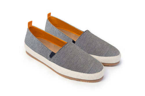 Mens Designer Espadrilles in Seersucker Linen | MULO shoes