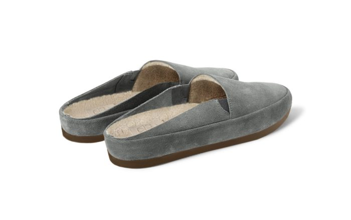 MULO shoes | Suede Grey Backless Slippers